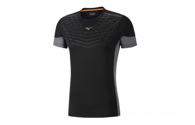 Maillot Manches Courtes Mizuno Cooltouch Noir