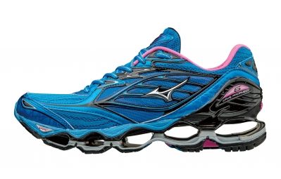 best service 50ef1 5ea17 Mizuno Wave Prophecy 6 Yellow Blue Black Woman