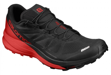 salomon s lab sense ultra noir rouge 44