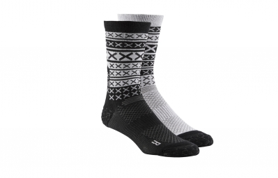 chaussettes reebok engineered x stripe noir gris 40 42