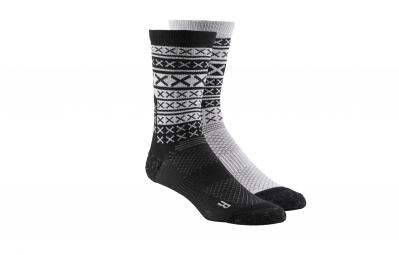 chaussettes reebok engineered x stripe noir gris 43 45
