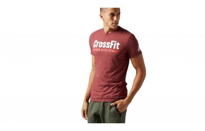 maillot homme reebok forging elite fitness rouge l
