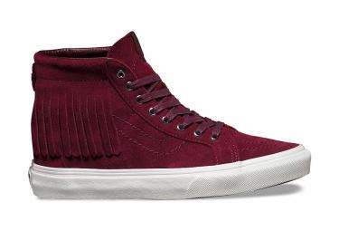 paire de chaussures vans sk8 hi moc bordeaux 39