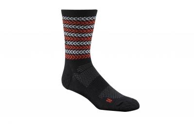 chaussettes reebok training stripe noir rouge 43 45