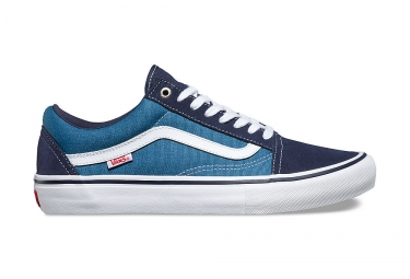 chaussures vans old skool pro bleu blanc 44 1 2