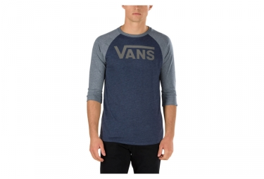 t shirt manches 3 4 vans classic bleu gris s