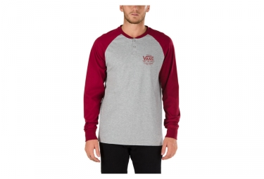 T-Shirt Manches Longues Vans Denton Gris Rouge