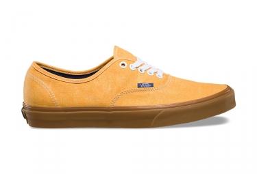 chaussures vans authentic jaune marron 42 1 2