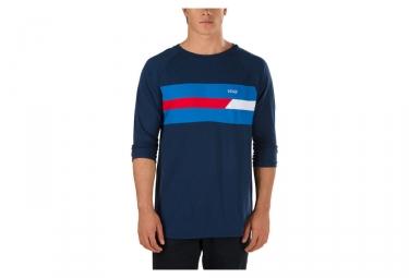 t shirt manches 3 4 vans ninety three bleu s