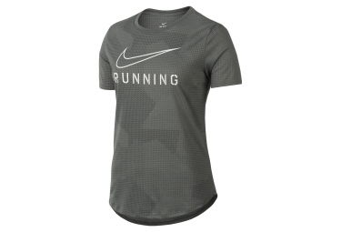 T shirt femme nike dry running gris noir blanc xs