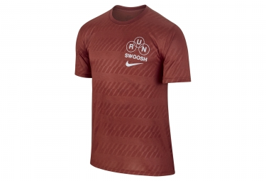 Maillot manches courtes nike dry rouge l