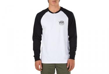 T-Shirt Manches Longues Vans Denton Blanc Noir