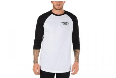 T-Shirt Manches 3/4 Vans Roll´Em Blanc Noir