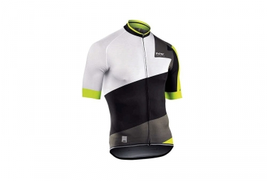 maillot manches courtes northwave 2017 extreme 2 noir blanc vert s