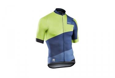 maillot manches courtes northwave 2017 extreme 2 bleu vert s