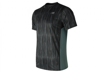 maillot homme new balance accelerate graphic noir gris s