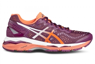 asics gel kayano 23 violet orange femme 37 1 2