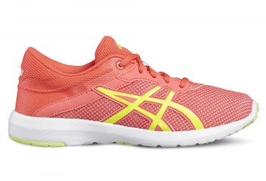Asics fuzex lyte 2 gs fille rose orange 33 1 2