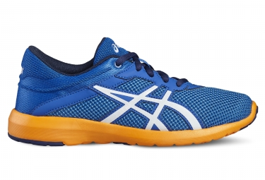 Asics fuzex lyte 2 gs garcon bleu orange 33 1 2