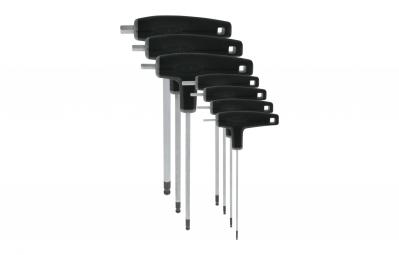 Jeu de 7 clés hexagonales têtes sphériques Var Noir