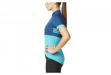 Maillot Manches Courtes Femme adidas cycling RESPONSE TEAM Bleu