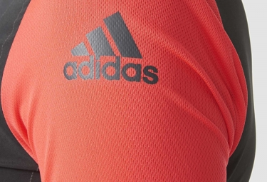 Maillot Manches Courtes Femme adidas cycling SUPERNOVA REFLECTIVITY Noir Rouge