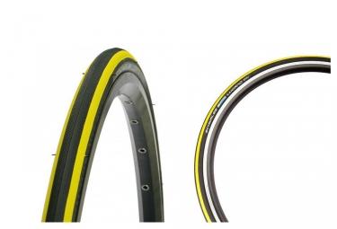 schwalbe pneu lugano 700mm k guard silica tubetype rigide noir jaune 25 mm