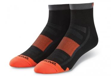 chaussettes dakine singletrack noir orange 43 46