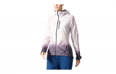 veste coupe vent impermeable femme adidas running terrex agravic blanc violet s
