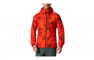 veste coupe vent impermeable adidas running terrex agravic orange camo xl