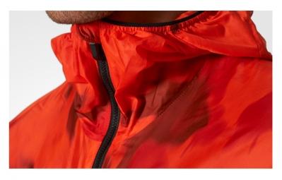veste coupe vent impermeable adidas running terrex agravic orange camo xl