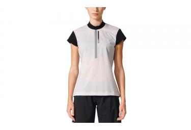 Camiseta Adidas Running Mujer Manga Corta Terrex Agravic Blanco Negro L