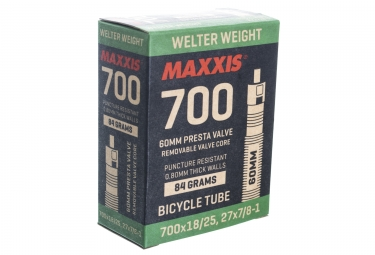 maxxis chambre a air welter weight 700 x 18 25 valve presta 60mm