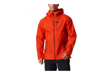 veste coupe vent impermeable adidas running terrex fast pack 2 5 layer orange l