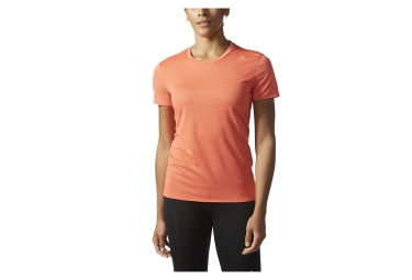 Maillot manches courtes femme adidas running supernova orange l