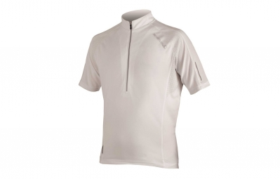 Endura maillot manches courtes xtract blanc xl