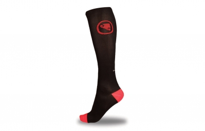 endura lot 2 paires de chaussettes compression noir l
