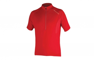 Endura maillot manches courtes xtract rouge l