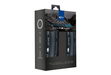 paire de pneus schwalbe pro one tubeless ready 700x23c tringles souples kit tubeless