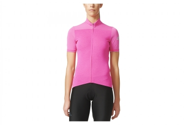 maillot manches courtes femme adidas cycling supernova climachill rose s