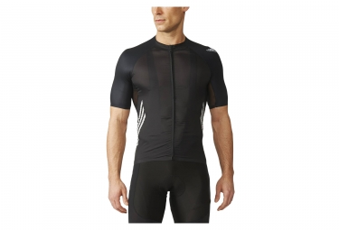 maillot manches courtes adidas cycling adizero noir m