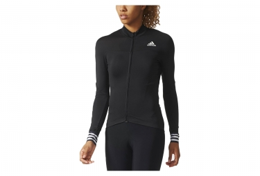 maillot manches longues femme adidas cycling adistar cd zero 3 noir blanc l
