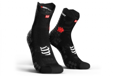 Chaussettes Compressport ProRacing V3.0 Run Smart Haute Noir