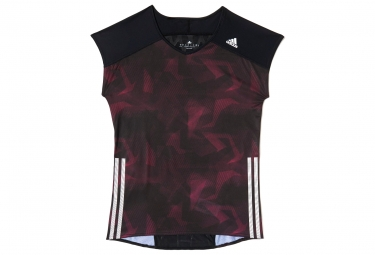 adidas t shirt adizero femme noir violet m