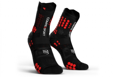 Compressport V3.0 Trail Smart Socken High Cut Schwarz / Rot