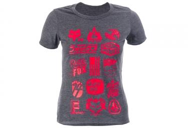 FOX T-Shirt Manches Courtes Femme MTN DIVISION TECH TEE Heather Gris
