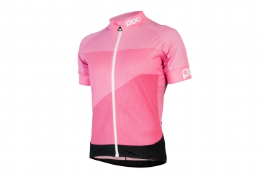 maillot manches courtes poc 2017 fondo gradient light rose m