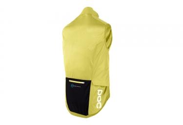 veste coupe vent sans manches poc 2017 resistance pro xc jaune l