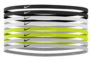 Mini Bandeau Nike 8 Pieces Noir Jaune Blanc