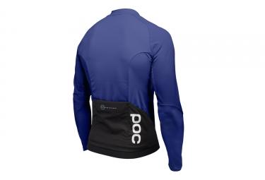 maillot manches longues poc 2017 resistance pro xc zip bleu l